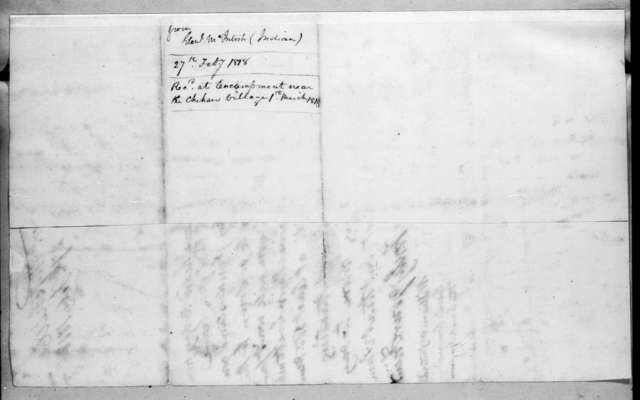 William McIntosh to Andrew Jackson, February 27, 1818