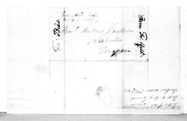 William Wyatt Bibb to Andrew Jackson, October 1, 1818