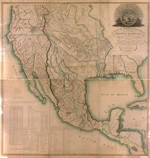 A map of Mexico, Louisiana, and the Missouri Territory : including also the state of Mississippi, Alabama Territory, East and West Florida, Georgia, South Carolina & part of the Island of Cuba /