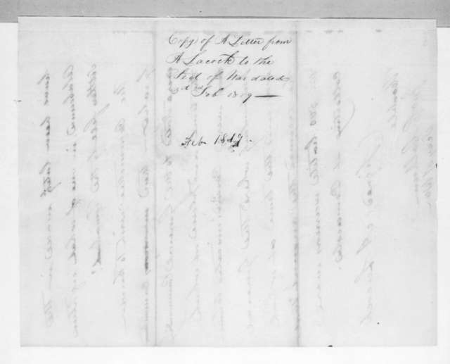 Abner Lacock to John Caldwell Calhoun, February 3, 1819