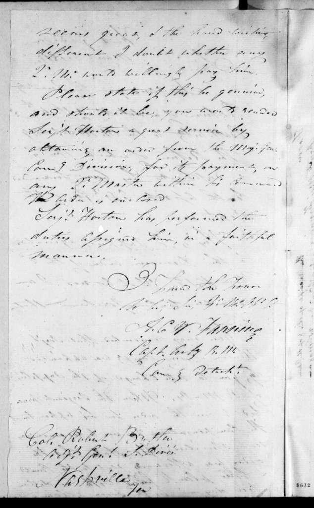 Alexander Campbell Wilder Fanning to Robert Butler, March 5, 1819