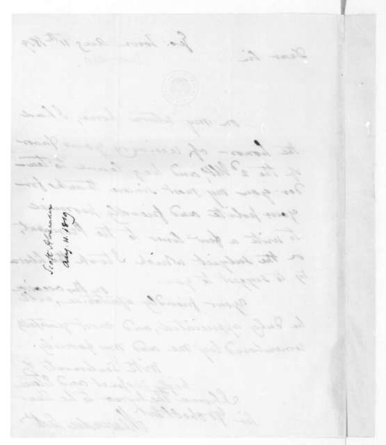 Alexander Scott to James Madison, August 11, 1819.