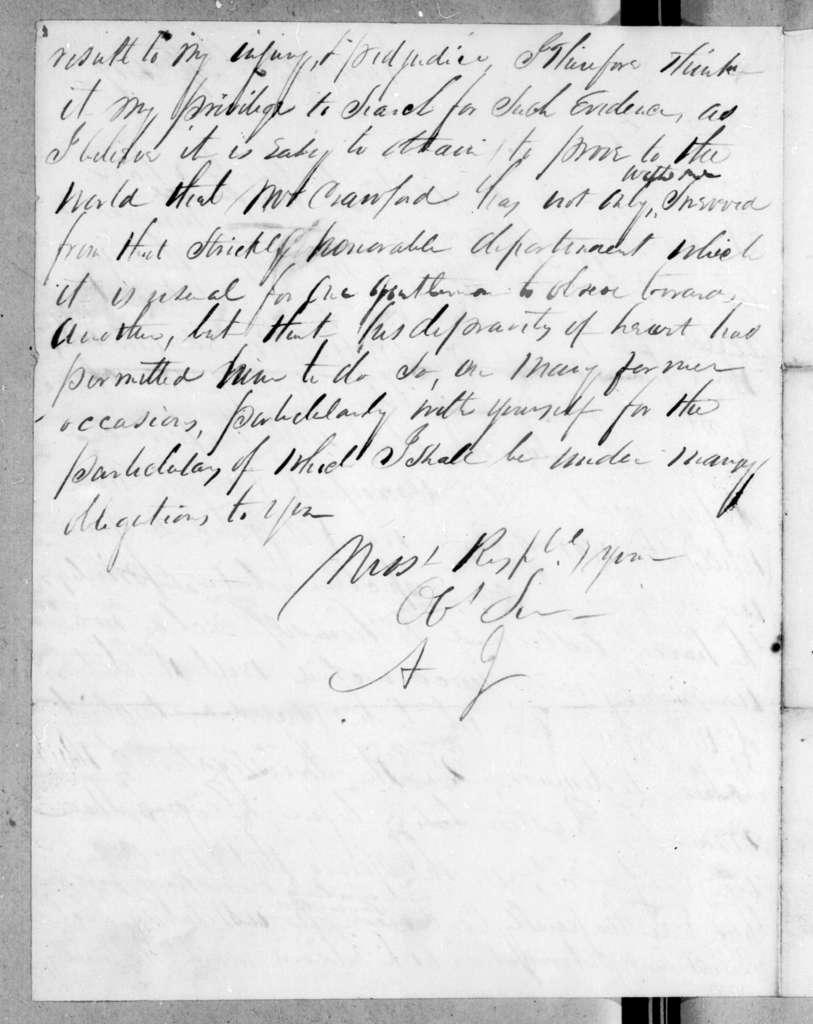 Andrew Jackson to John Clark, April 20, 1819