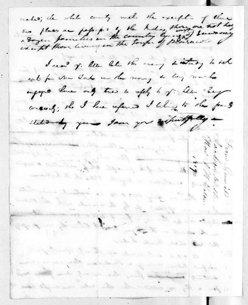 Andrew Jackson to John Henry Eaton