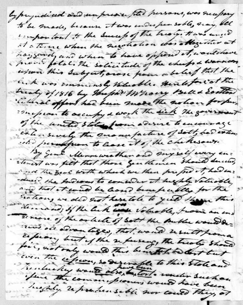 Andrew Jackson to Joseph McMinn, August 20, 1819