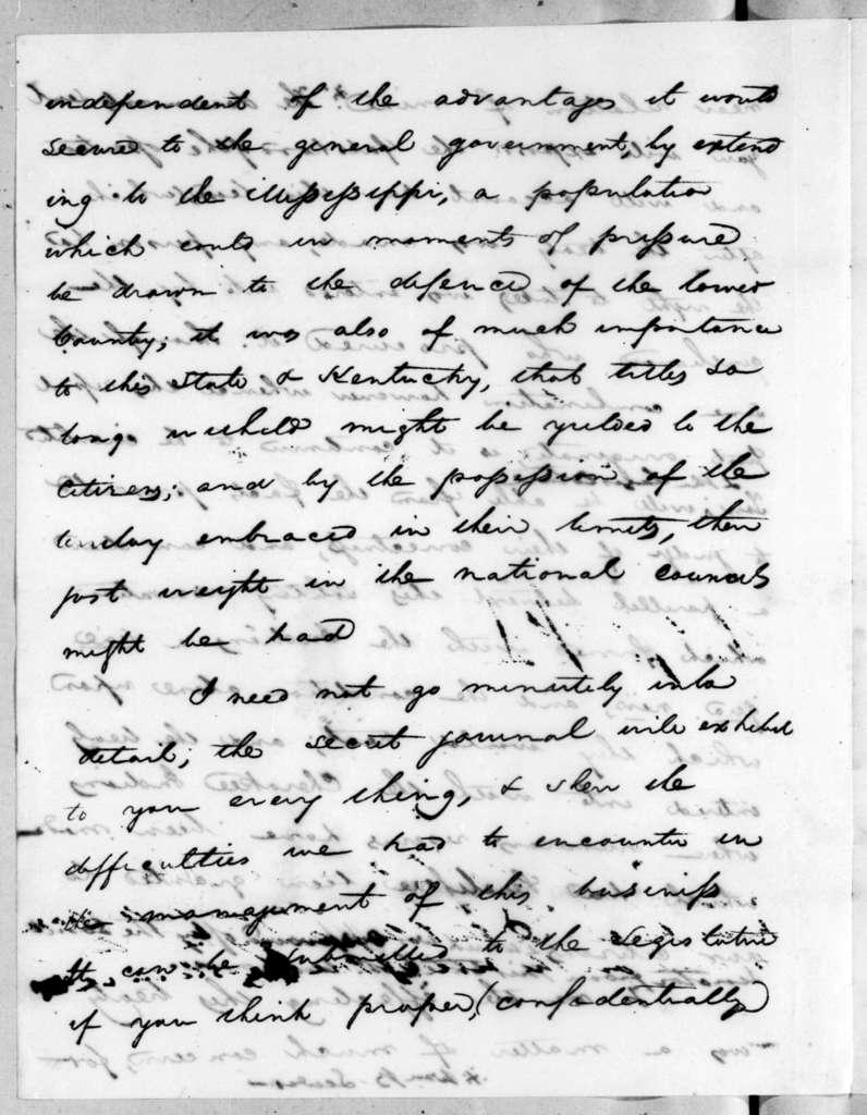 Andrew Jackson to Joseph McMinn, August 22, 1819