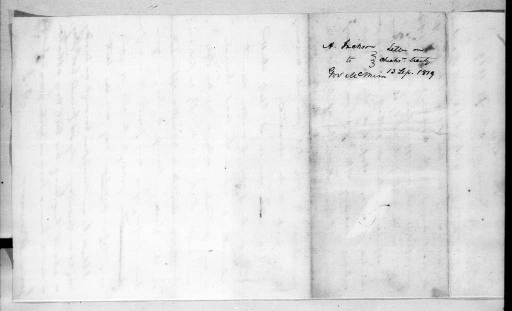 Andrew Jackson to Joseph McMinn, September 13, 1819