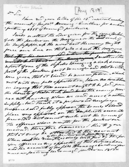 [Andrew Jackson] to Louis Alexis