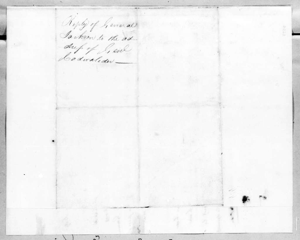 Andrew Jackson to Thomas Cadwalader