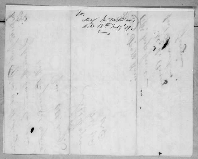 Arthur Peronneau Hayne to Talbot Chambers, February 18, 1819