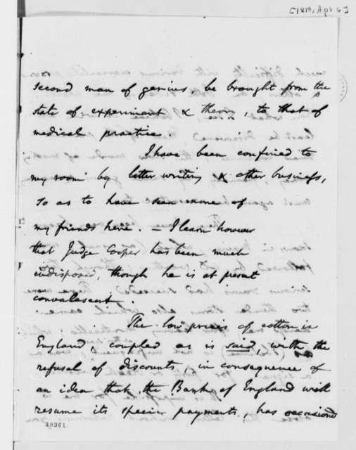 Benjamin Vaughan to Thomas Jefferson, April 6, 1819