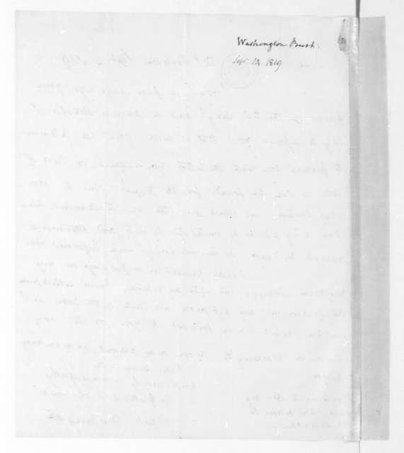 Bushrod Washington to James Madison, September 14, 1819.