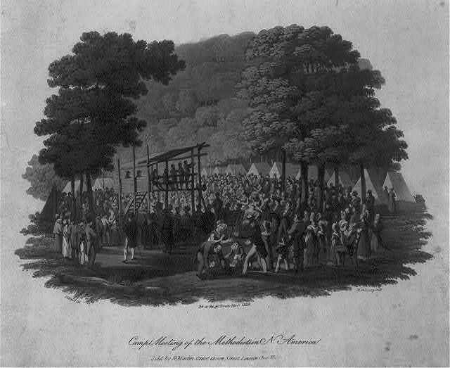 Camp meeting of the Methodists in N. America / J. Milbert del. ; M. Dubourg sculp.