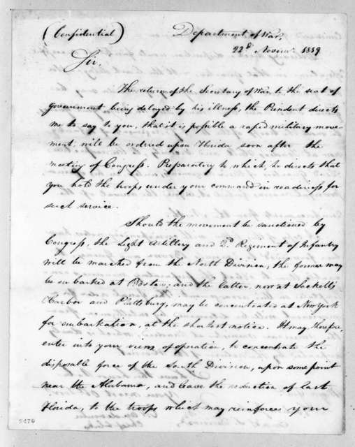 Christopher Vandeventer to Andrew Jackson, November 22, 1819
