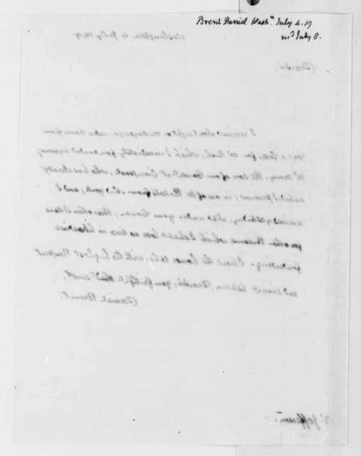 Daniel Brent to Thomas Jefferson, July 4, 1819