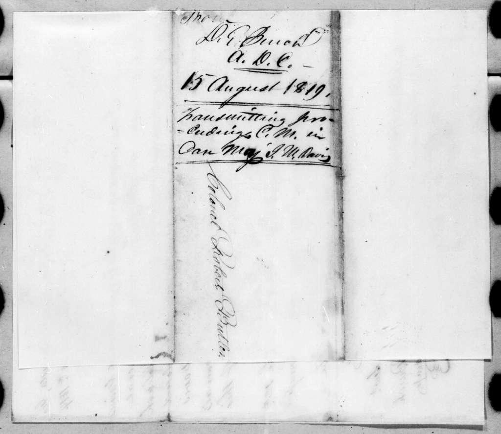 Daniel E. Burch to Robert Butler, August 15, 1819