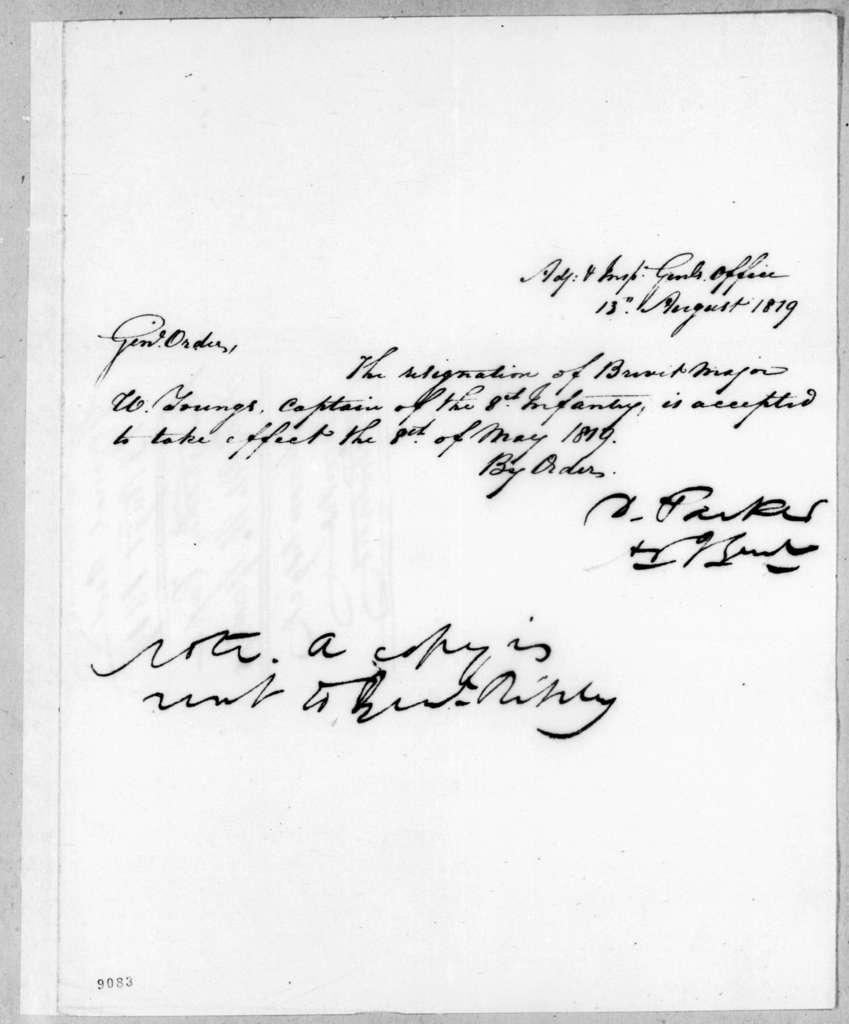 Daniel Parker, August 13, 1819