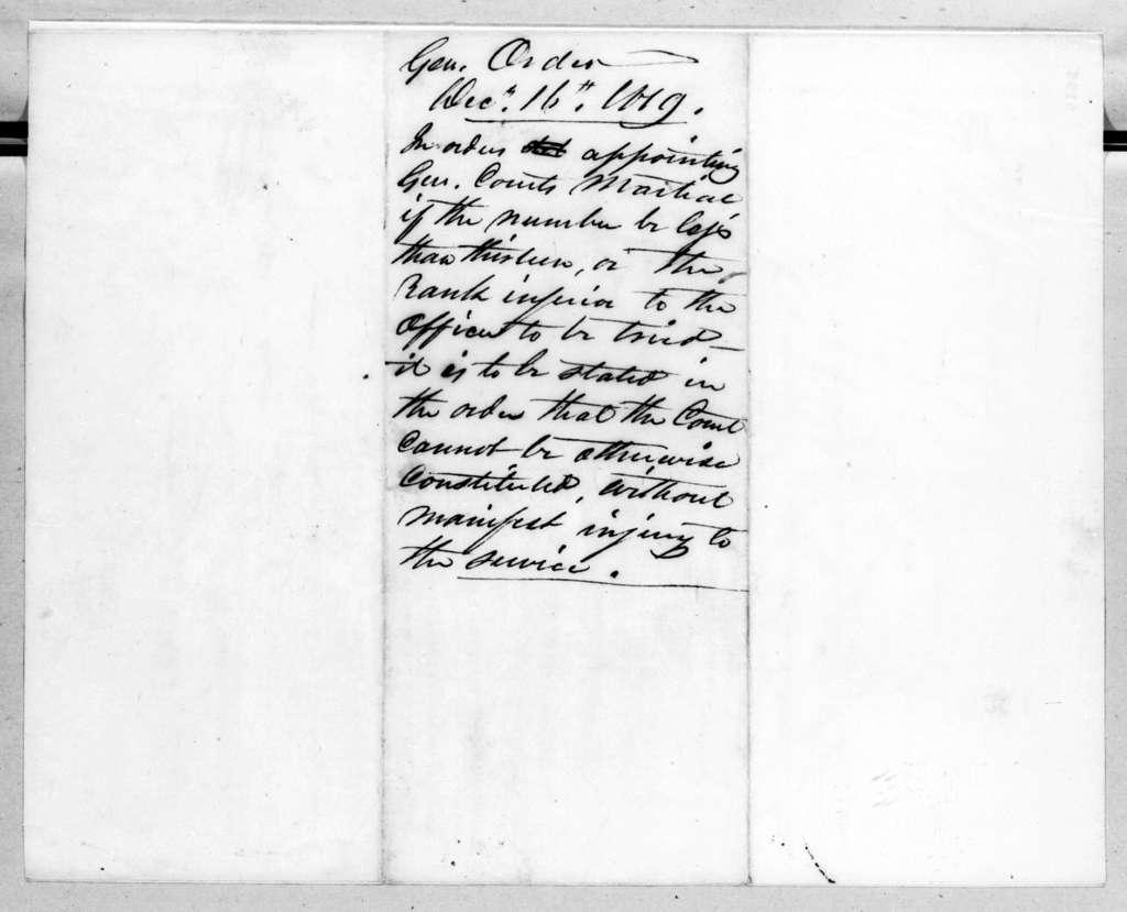 Daniel Parker, December 16, 1819