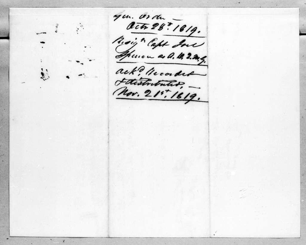 Daniel Parker, October 28, 1819