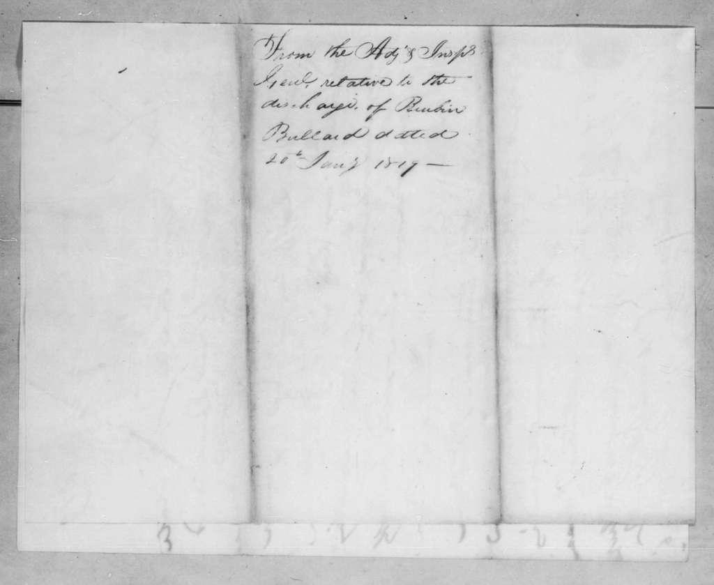Daniel Parker to Andrew Jackson, January 29, 1819
