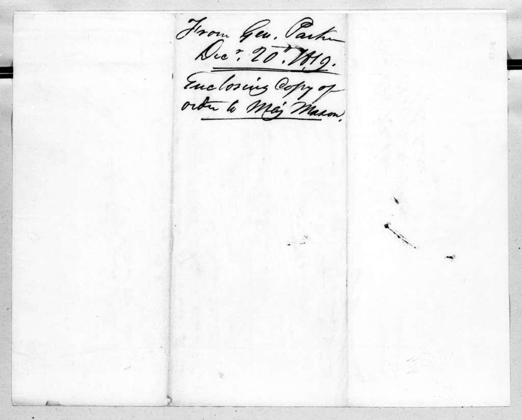 Daniel Parker to Robert Butler, December 20, 1819
