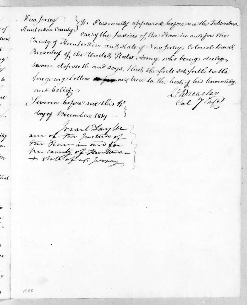 David Brearley to Andrew Jackson, December 1, 1819