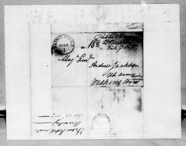 David Brearley to Andrew Jackson, February 28, 1819