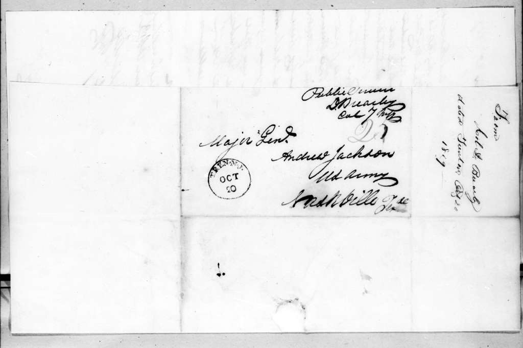 David Brearley to Andrew Jackson, October 20, 1819
