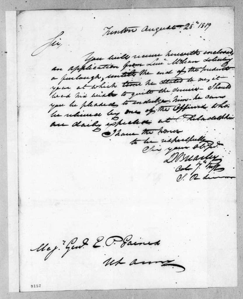 David Brearley to Edmund Pendleton Gaines, August 28, 1819