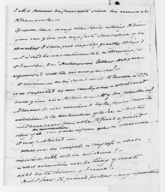 David Hosack to Thomas Jefferson, October 12, 1819