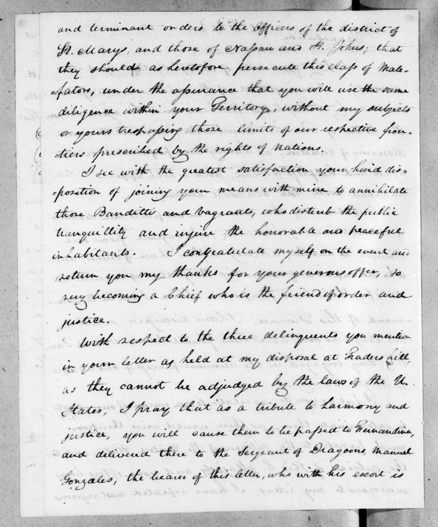 Duncan Lamont Clinch to Joseph Coppinger, September 13, 1819