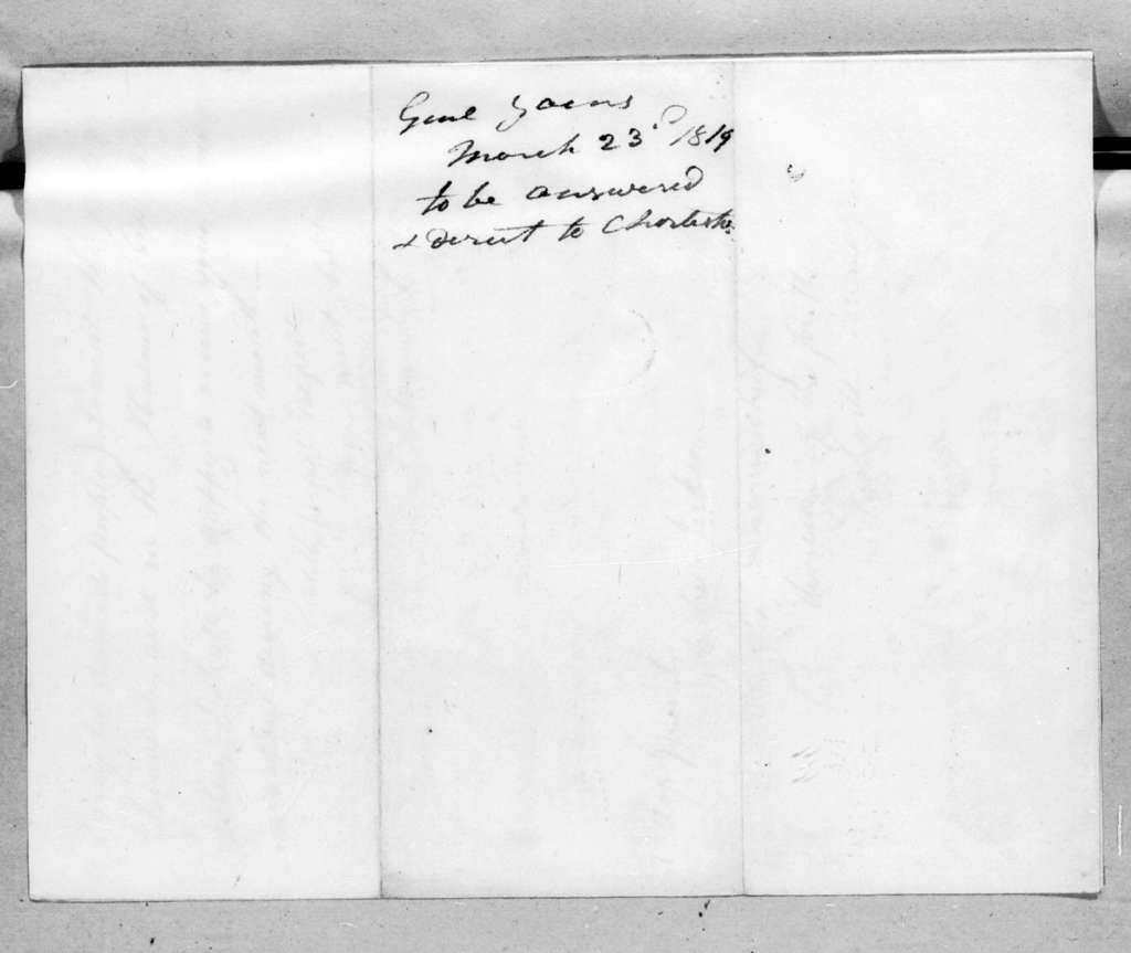 Edmund Pendleton Gaines to Andrew Jackson, March 23, 1819