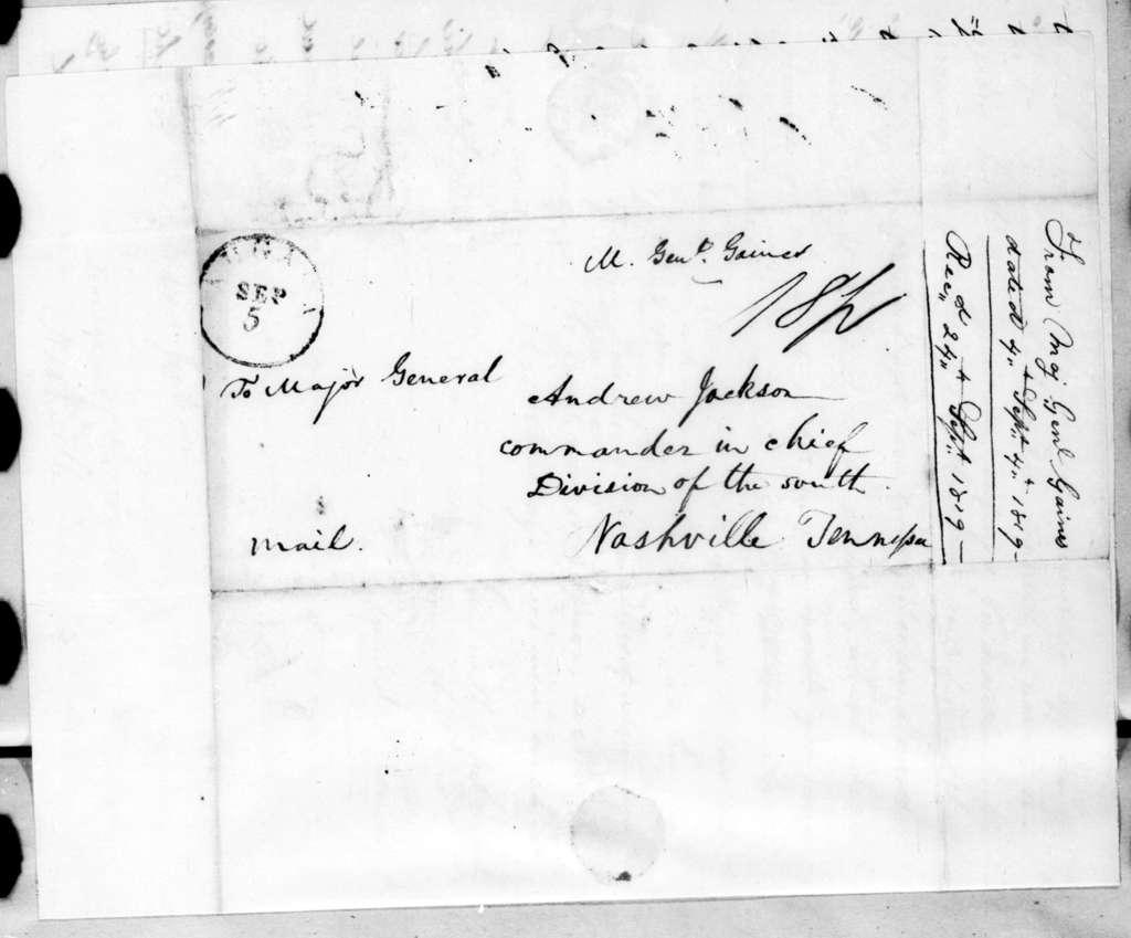 Edmund Pendleton Gaines to Andrew Jackson, September 4, 1819