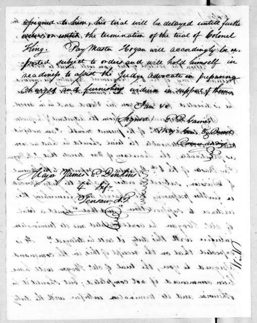 Edmund Pendleton Gaines to James Edward Dinkins, August 20, 1819