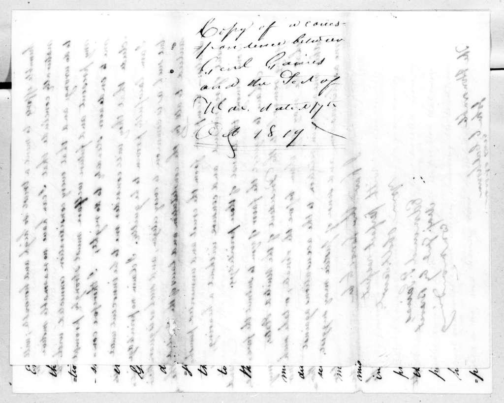 Edmund Pendleton Gaines to John Caldwell Calhoun, October 17, 1819