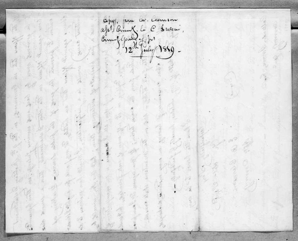 Eli B. Clemson to Callender Irvine, July 12, 1819