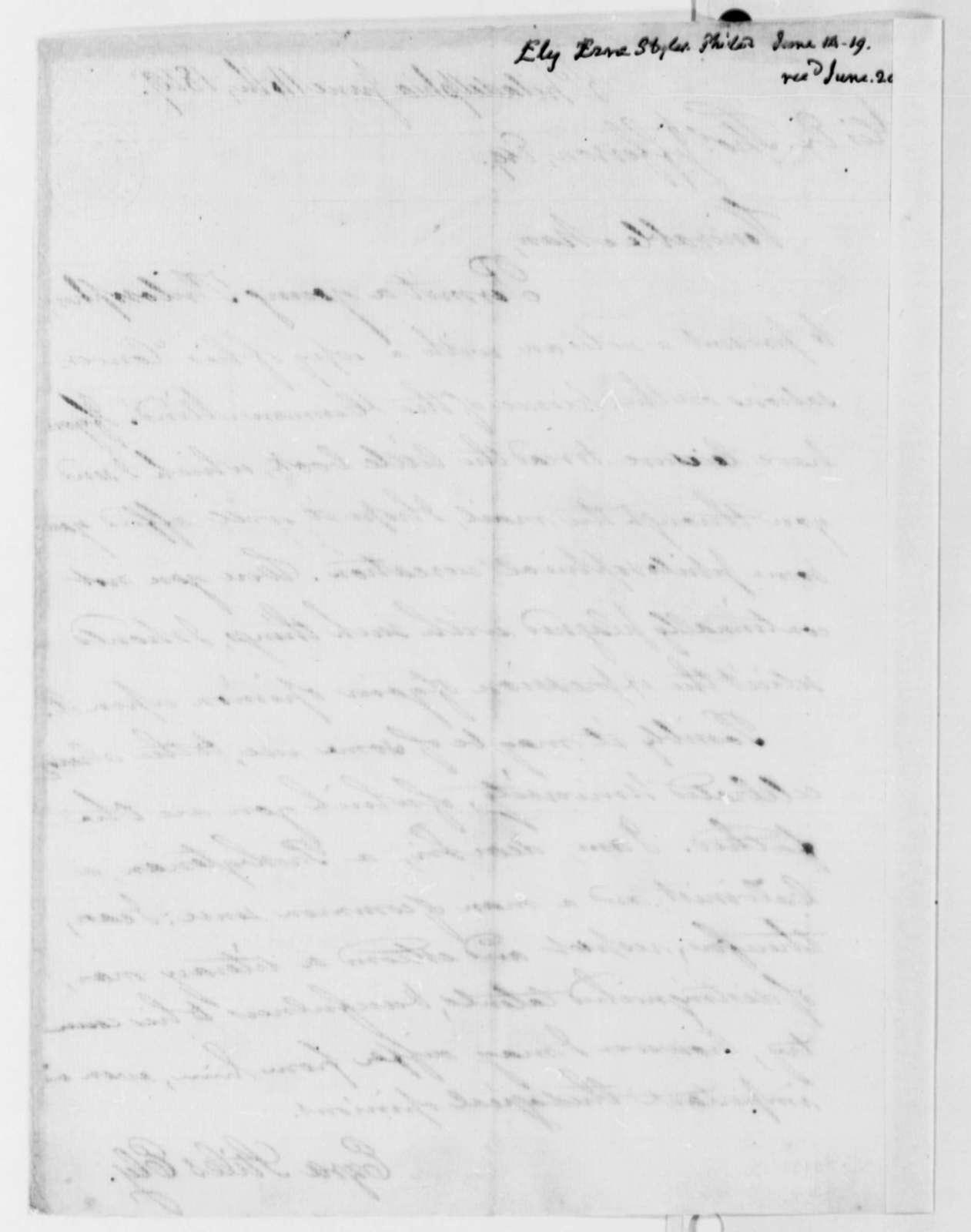 Ezra Stiles Ely to Thomas Jefferson, June 14, 1819