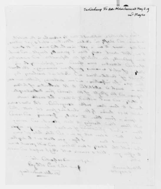 Francis A. van der Kemp to Thomas Jefferson, May 8, 1819