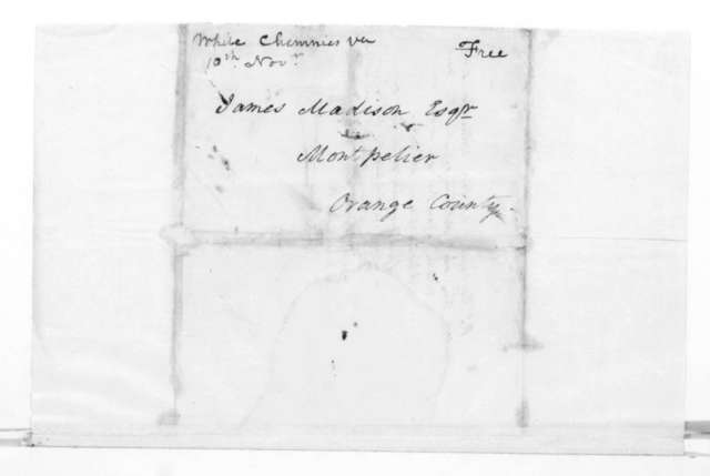 Francis Corbin to James Madison, December 2, 1819. With Postscript.