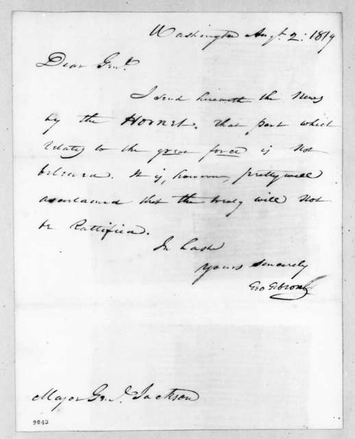 George Gibson to Andrew Jackson, August 2, 1819