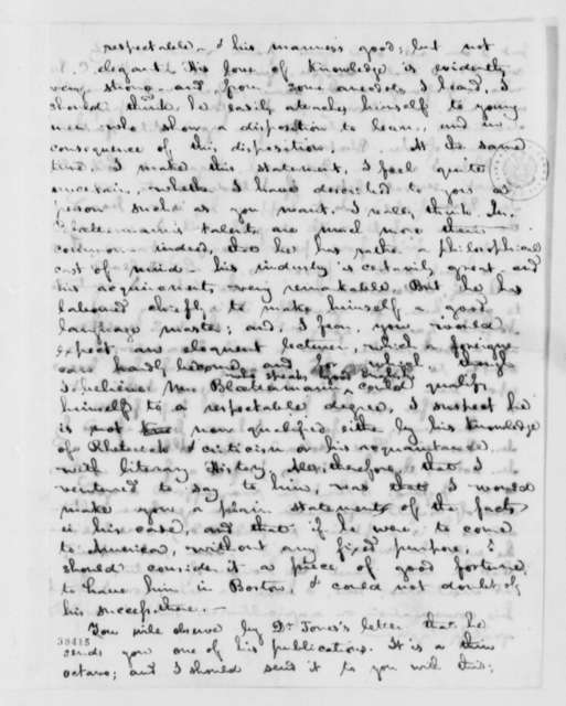 George Ticknor to Thomas Jefferson, May 27, 1819