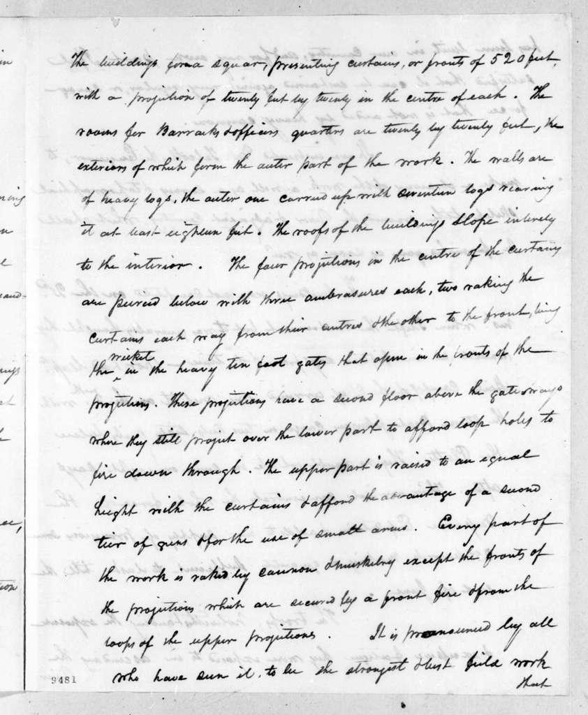 Henry Atkinson to Andrew Jackson, November 23, 1819