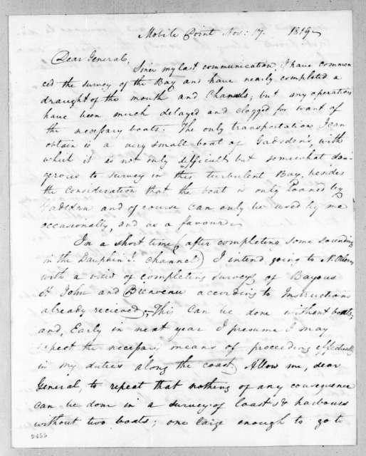 Hugh Young to Andrew Jackson, November 17, 1819