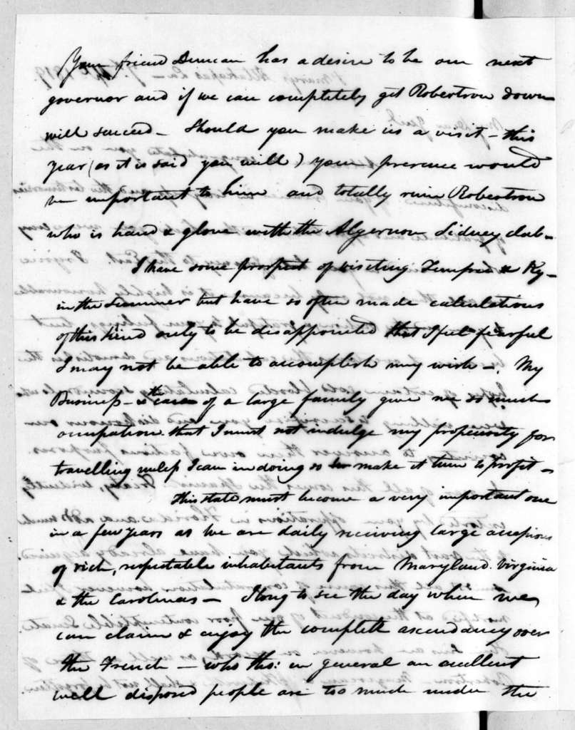 Isaac Lewis Baker to Andrew Jackson, April 7, 1819