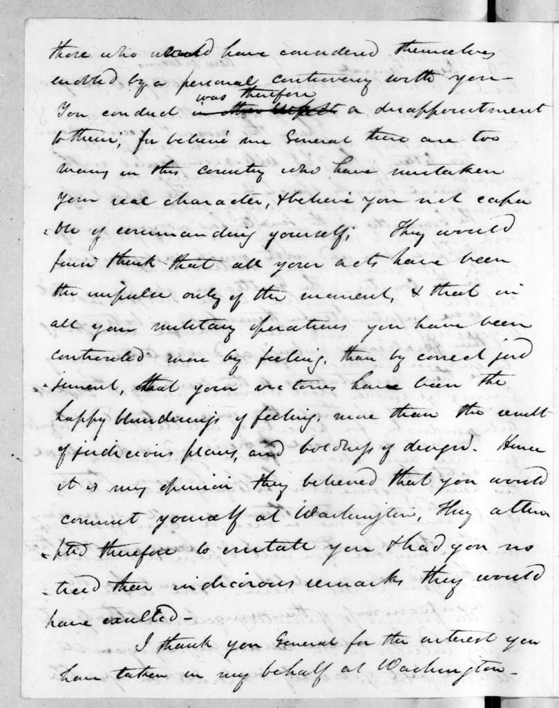 James Gadsden to Andrew Jackson, April 15, 1819