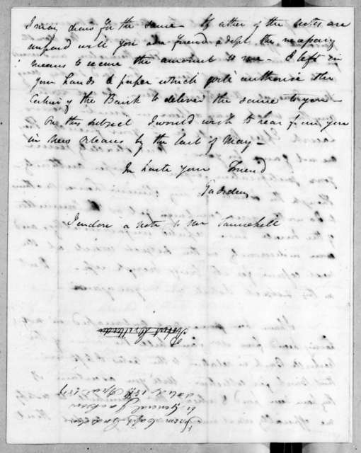 James Gadsden to Andrew Jackson, April 18, 1819