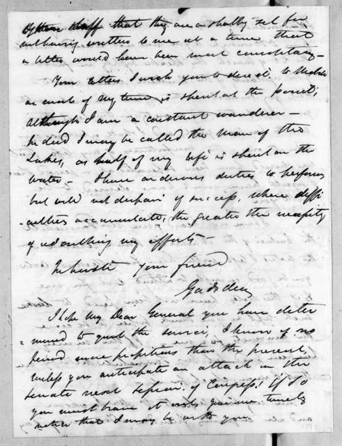 James Gadsden to Andrew Jackson, April 22, 1819