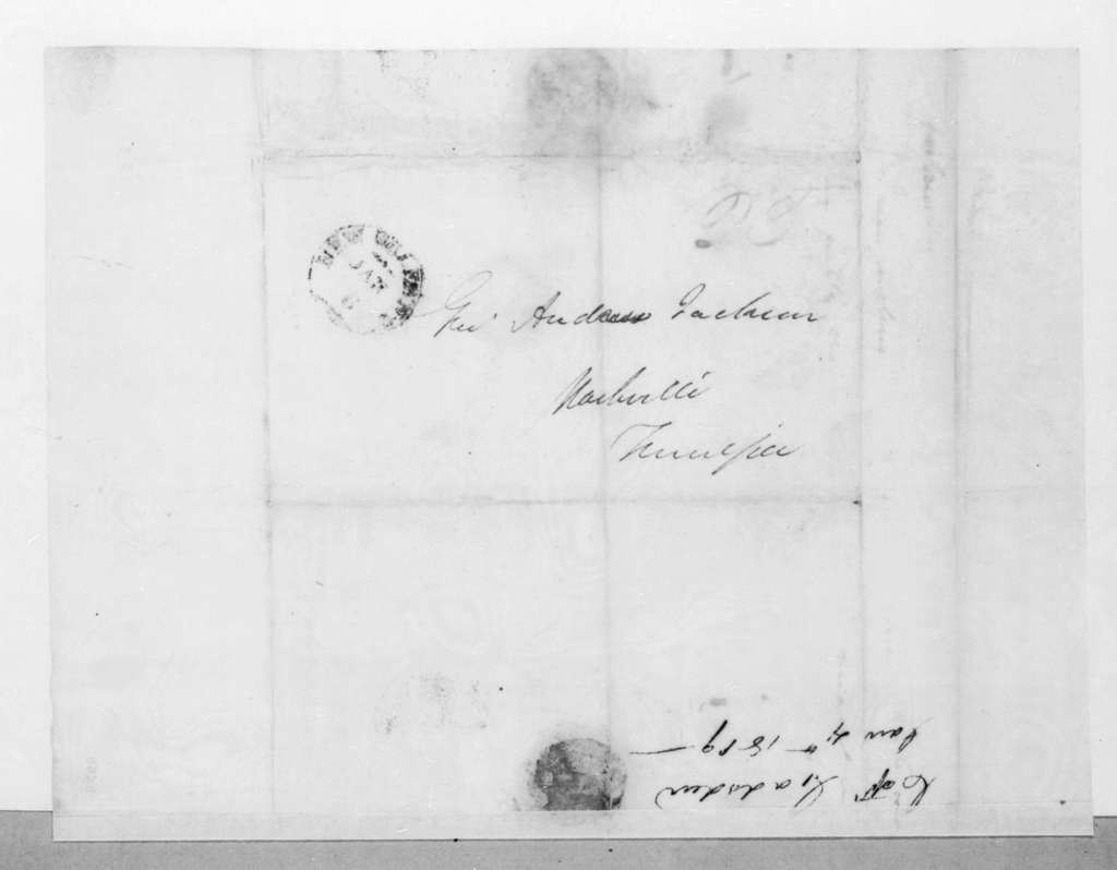 James Gadsden to Andrew Jackson, January 4, 1819