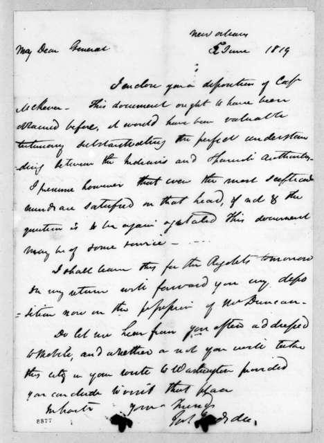 James Gadsden to Andrew Jackson, June 5, 1819