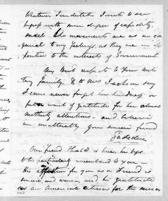 James Gadsden to Andrew Jackson, October 28, 1819